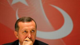 Le Premier ministre turc Recep Tayyip Erdogan, le 3 octobre 2008.