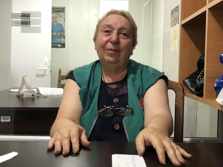 Нуну Чаувелидзе. Врач скорой помощи в поселке Церовани. Июль 2018 г.