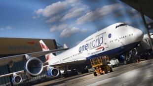 Un Boeing 747 de British Airways à l'aéroport d'Heathrow à Londres, le 17 juillet 2020.
