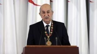 Rais wa Algeria, Abdelmadjid Tebboune, hapa ilikuwa mwezi Desemba 2019.