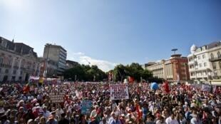 Manifestation contre les mesures d'austérité à Lisbonne, le 29 mai 2010.