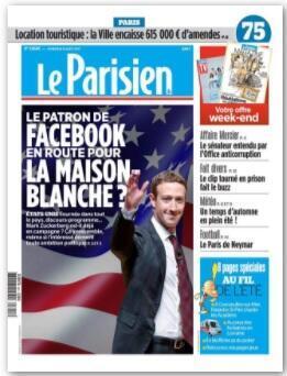 Capa do jornal Aujourd'hui en France desta sexta-feira (11).