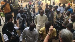 Candidat de l'ANC, Jean-Pierre Fabre a voté ce samedi matin à l'élection présidentielle togolaise.