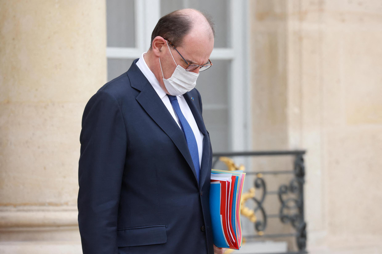 Image d'archive RFI : le Premier ministre Jean Castex, après un conseil des ministres au Palais de l'Élysée, le 10 mars 2021.
