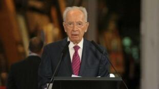 O presidente israelense, Shimon Peres.