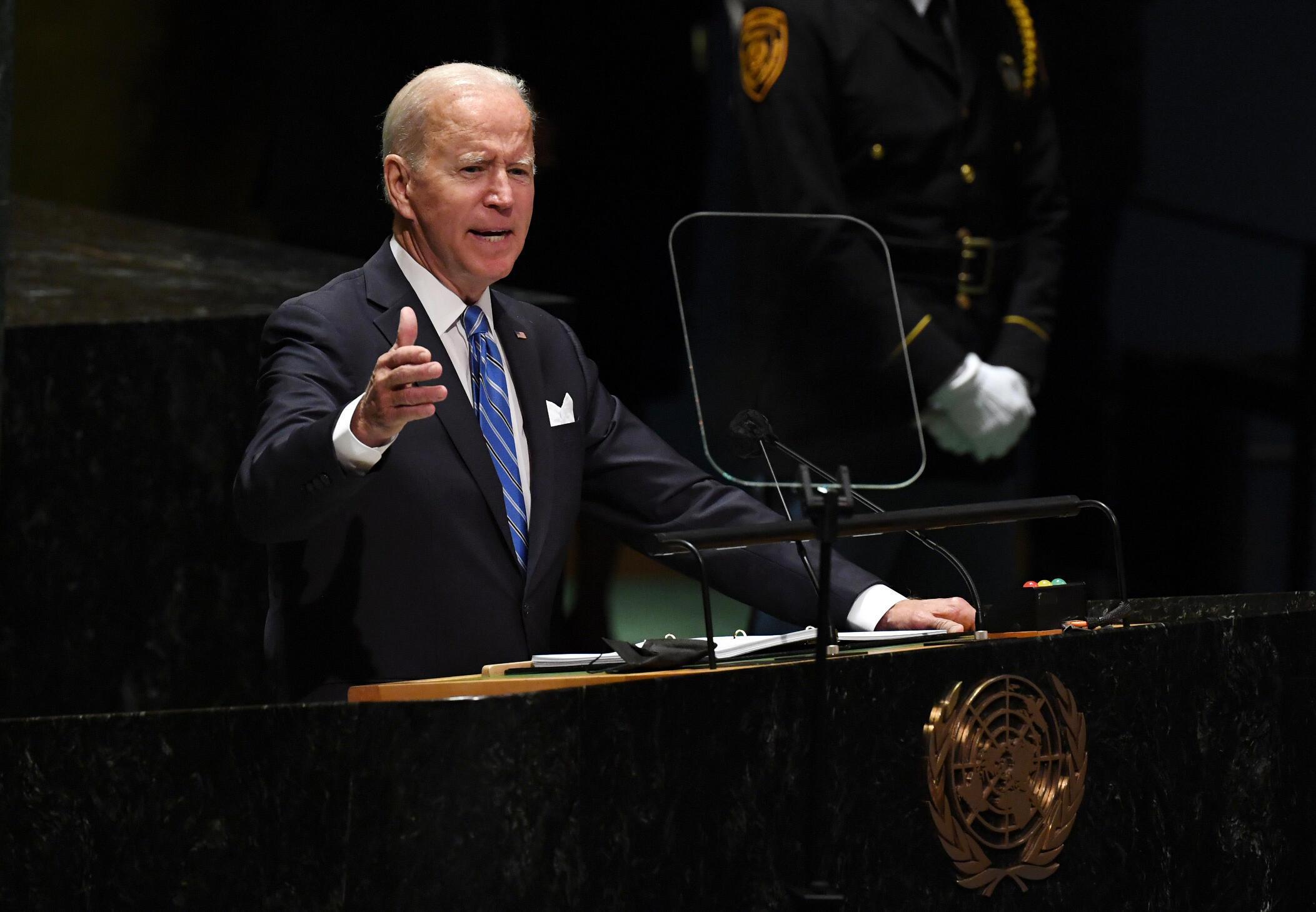 Shugaban Amurka Joe Biden yana gabatar da jawabin sa na farko a Majalisar Dinkin Duniya