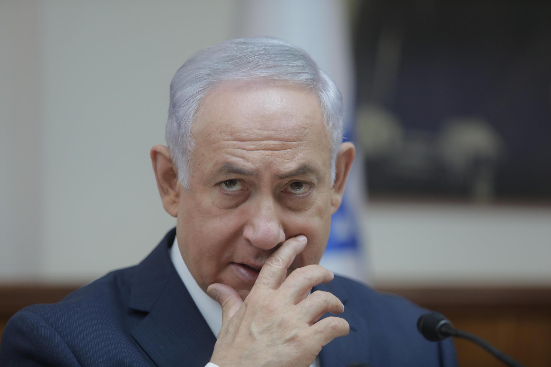 بنیامین نتانیاهو، نخست وزیر اسرائیل، در جلسه هیأت دولت؛ یکشنبه ۲۲ مرداد/ ١٣ اوت ٢٠۱٧