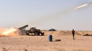 As forças armadas sírias durante um ataque.