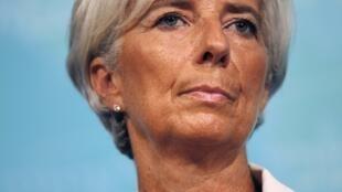 Christine Lagarde, diretora-gerente do FMI, quando anunciou que as previsões seriam reduzidas, em 3 de julho.