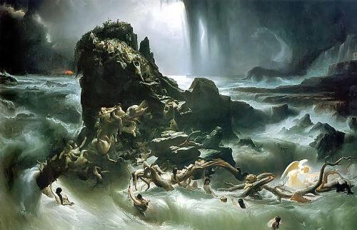 Tranh Đại hồng thủy của Francis Danby (1840)