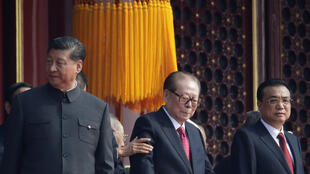 中共领导人在七十周年国庆阅兵式上,2019年10月1日。