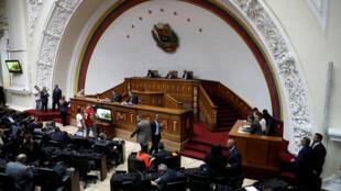 Une session de travail à l'Assemblée nationale, le 9 janvier 2018, à Caracas.