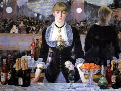 """Эдуар Мане. «Бар в """"Фоли-Бержер""""». Холст, масло. 1882."""