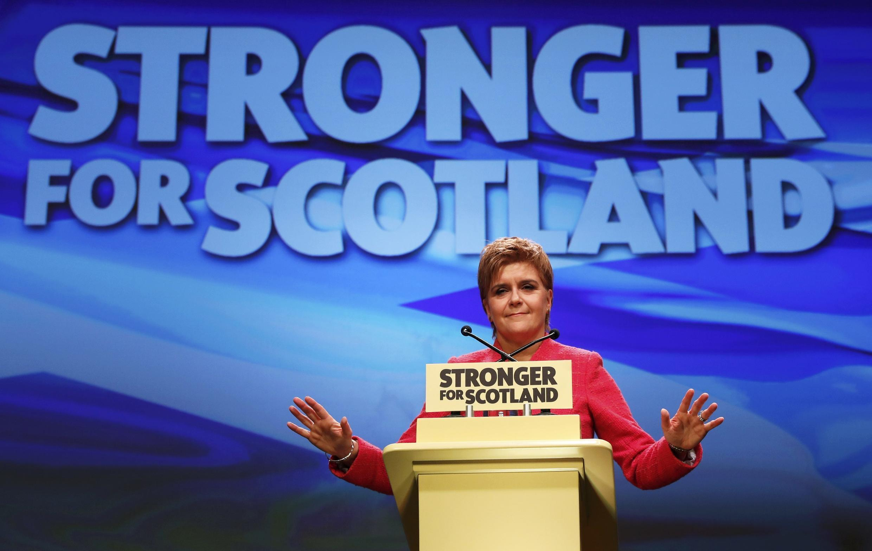 Nicola Sturgeon, thủ hiến Scotland. Ảnh ngày 18/03/2017 tại Aberdeen.