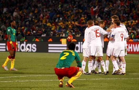 Le Cameroun abattu après sa défaite face au Danemark.