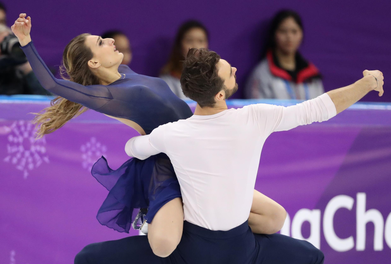 Gabriella Papadakis and Guillaume Cizeron of France perform on Tuesday