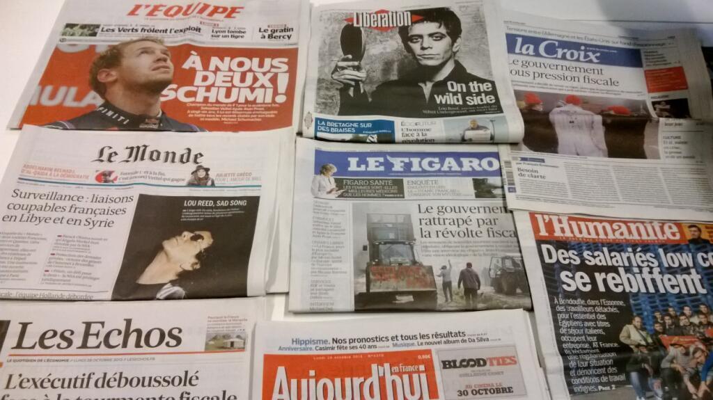 Diários franceses  28/10/2013