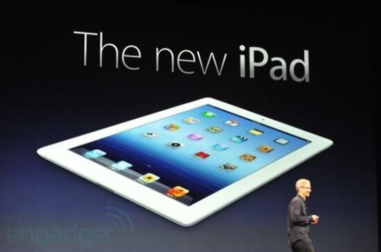 La dernière version de l'Ipad, présentée par Tim Cook aux Etats-Unis