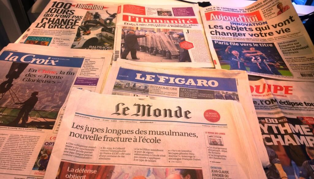 Diários franceses 29/04/2015