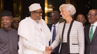 Shugabar IMF Christine Lagarde tare da Muhammadu Buhari shugaban Najeriya