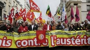 Manifestation à Paris, le 1er mai 2014.