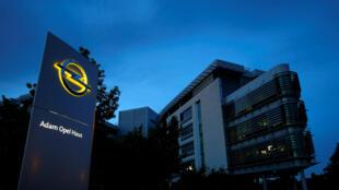 Le siège du constructeur Opel à Ruesselsheim, en Allemagne.