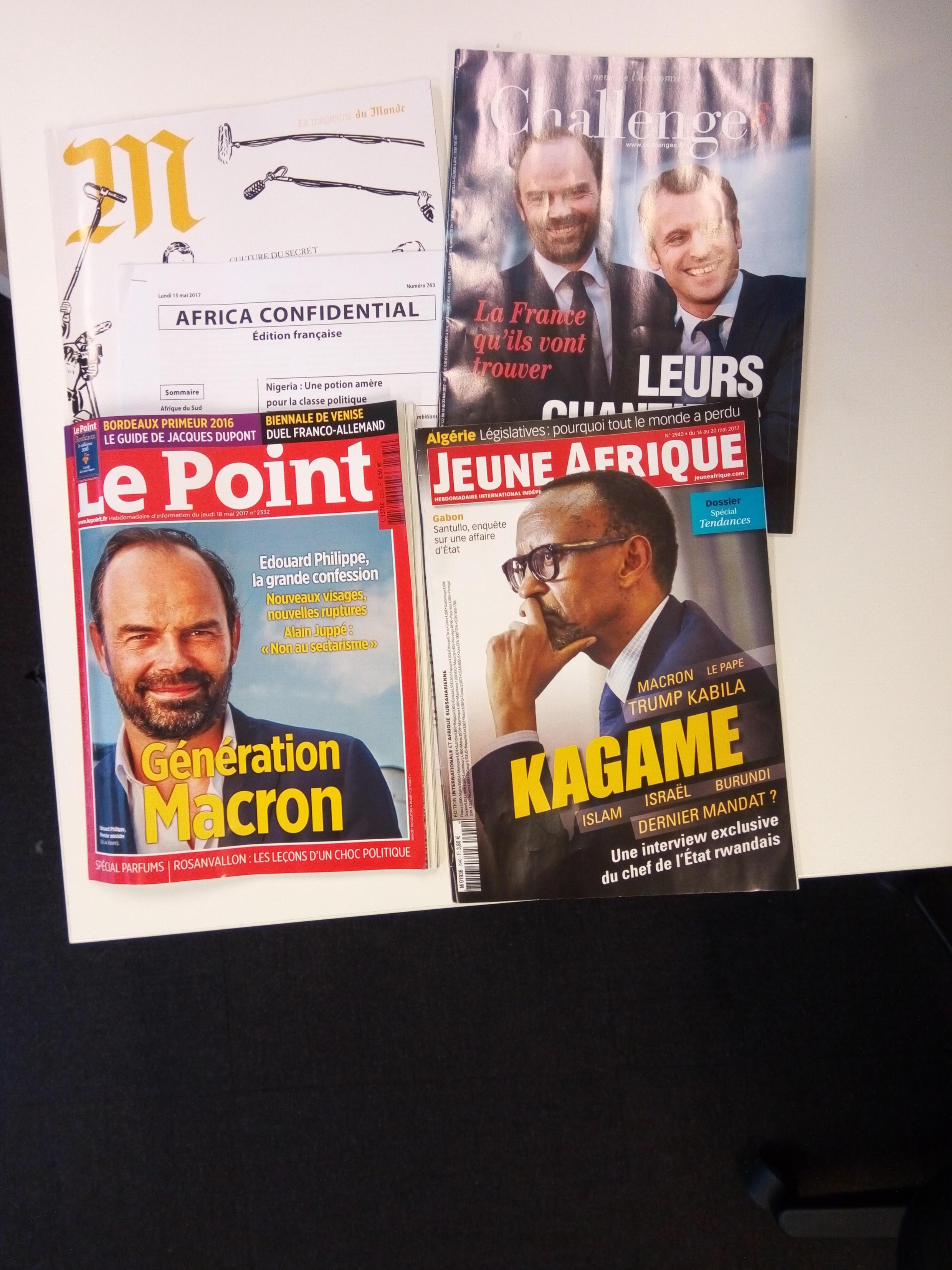 Capas de magazines news franceses de 19 de maio de 2017