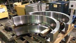Các sản phẩm kim loại được trữ tại Wolfe and Swickard Machine Company Inc. ở tiểu bang Indiana, Hoa Kỳ, ngày 10/04/2018.