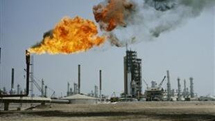 Raffinerie pétrolière en Arabie Saoudite.