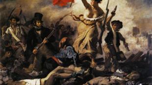 """""""La Liberté guidant le peuple"""" d'Eugène Delacroix."""