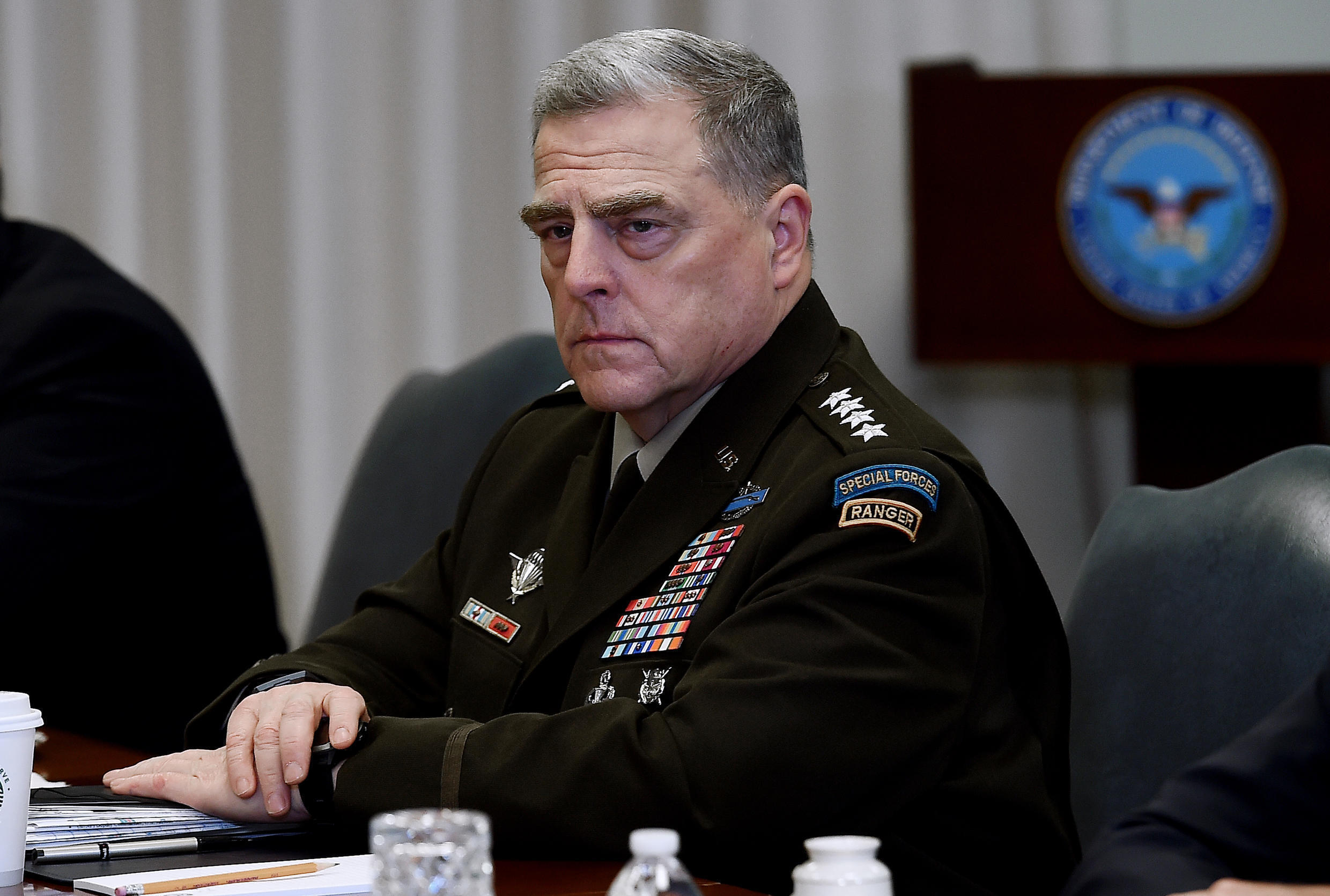 General Mark Milley, chairman of the US Joint Chiefs of Staff, is among several senior US military officers self-quarantining