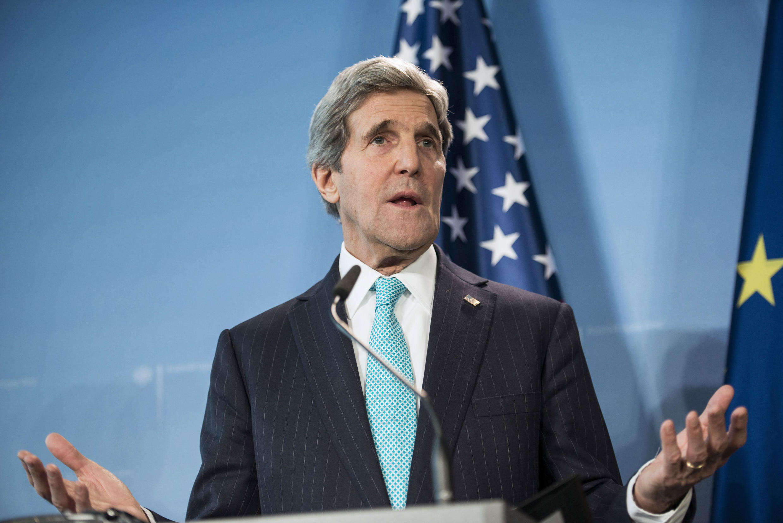 Ngoại trưởng Mỹ John Kerry tại Berlin ngày 31/1/2014.