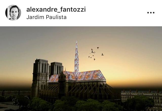 Brasileiro Alexandre Fantozzi colocaria vitrais por todo o telhado da Notre-Dame.