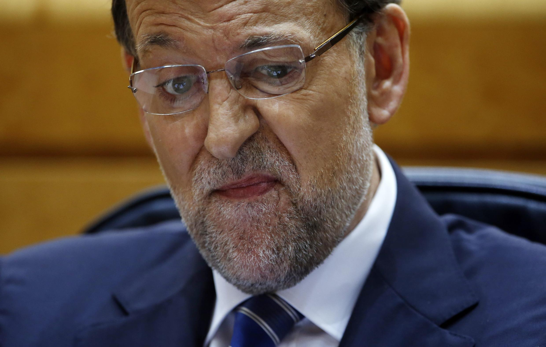 Mariano Rajoy durante la audiencia en el Parlamento español.