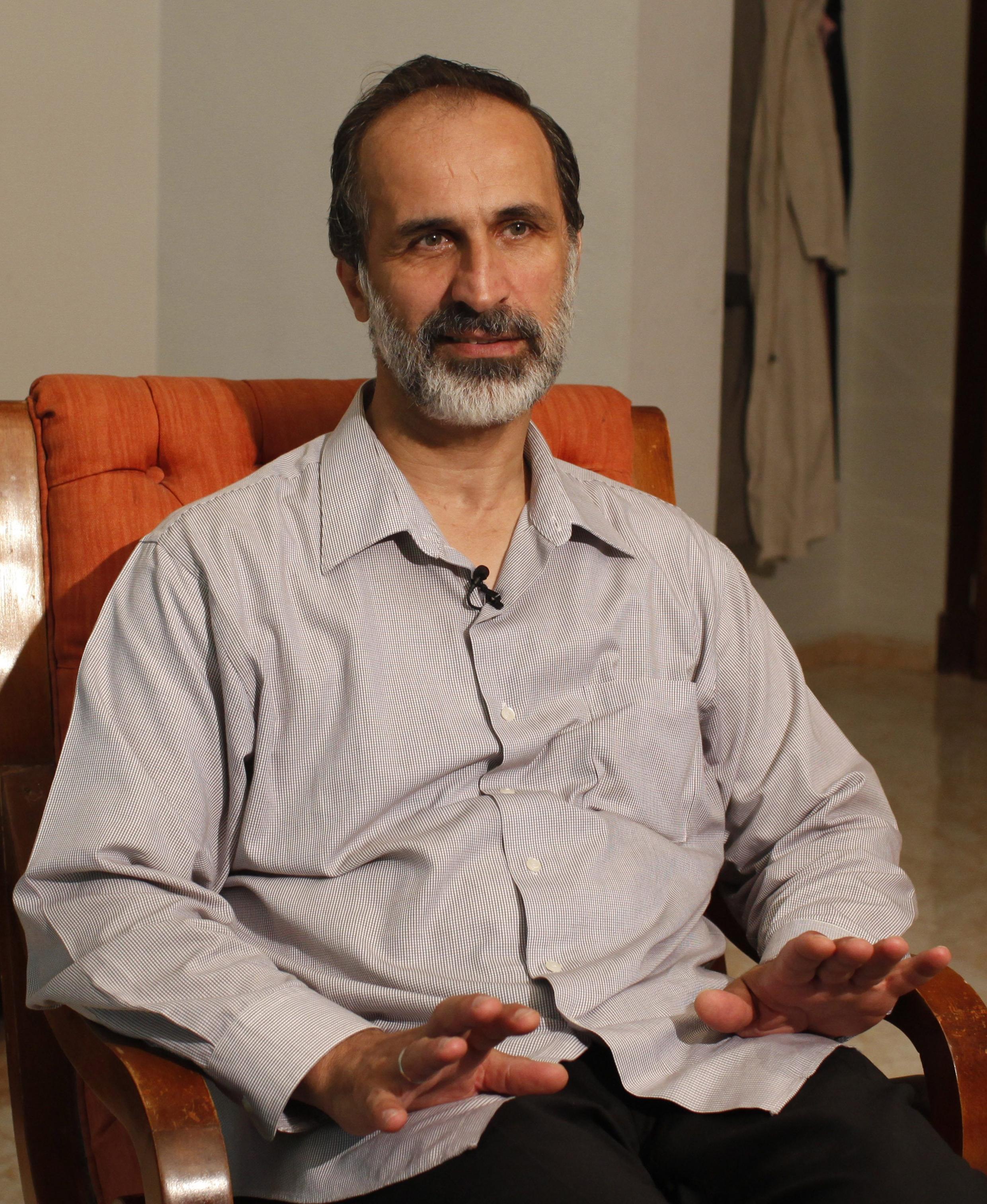 Syrian National Coalition leader Ahmed Moaz al-Khatib
