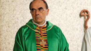Tổng giám mục Philippe Barbarin tại một giáo xứ ở Venissieux, gần Lyon, Pháp, ngày 30/09/2018.
