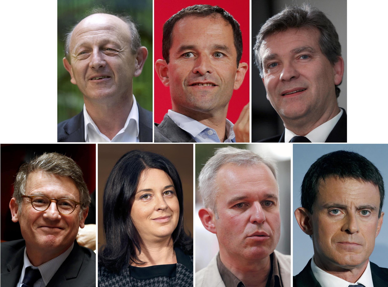 Os rostos socialistas às primárias à esquerda de 22 de janeiro na corrida às presidenciais de maio.