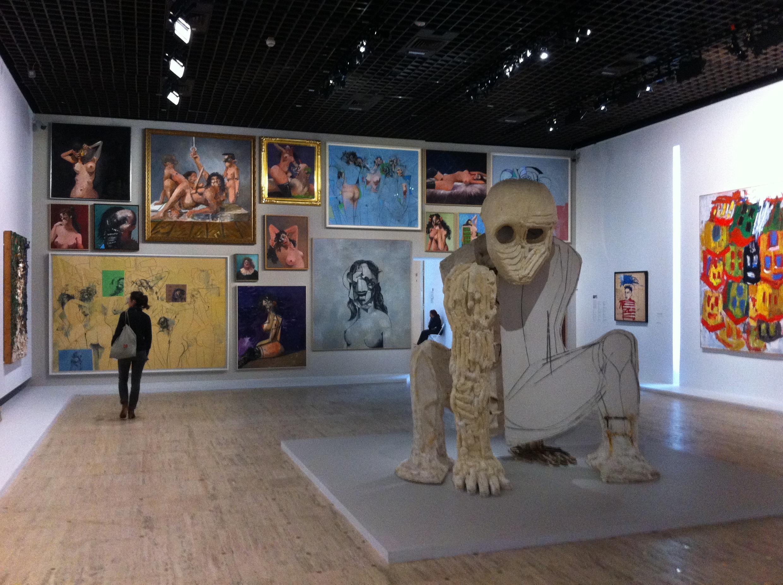 Đối chiếu tác phẩm bậc thầy với các tác giả thời nay như George Condo, Julian Schnabel (trái), Jean-Michel Basquiat & Georg Baselitz (phải)