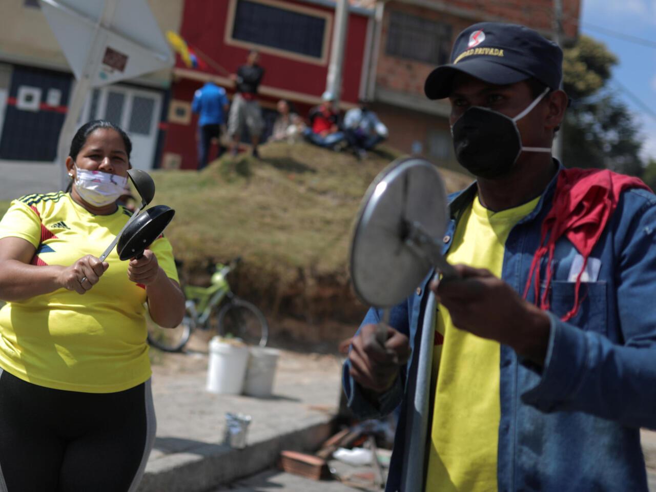 Protestas en Colombia por hambre y falta de alimentos - Noticias ...
