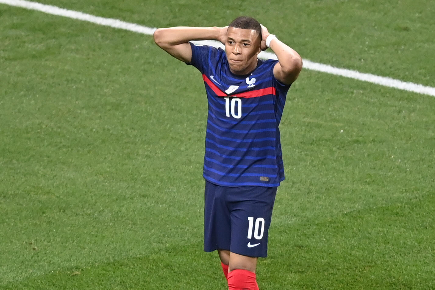 Penalty 'scar': Kylian Mbappe missed the decisive penalty as France exited Euro 2020 to Switzerland