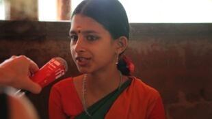 Jeune danseuse de 13 ans,au Kalamandalam, Kérala, Inde