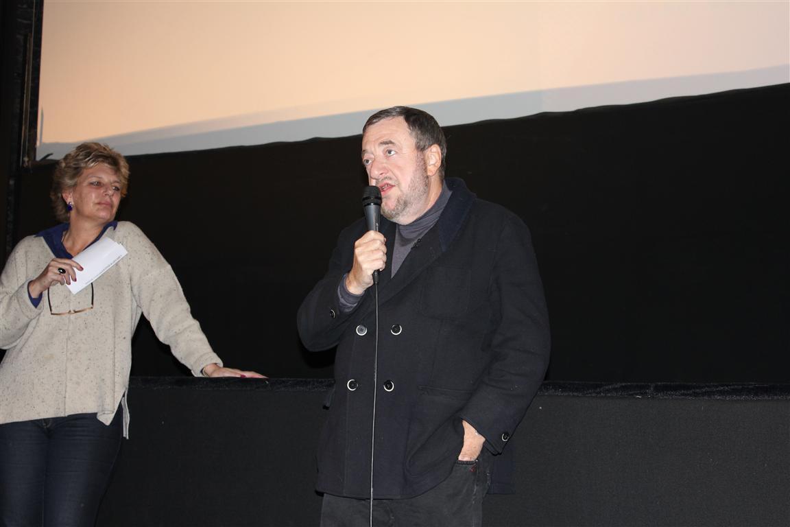 Софи Дюлак и Павел Лунгин на открытии 10-й Недели российского кино в Париже 14 ноября 2012 г.