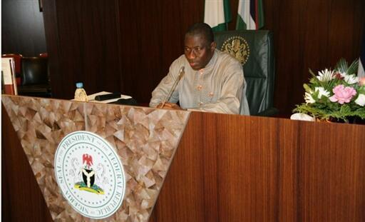 Le président nigérian par interim Goodluck Jonathan le 10 février 2010.