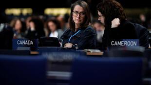 Participantes aux négociations de la COP24, le 13 décembre 2018, à Katowice (Pologne).