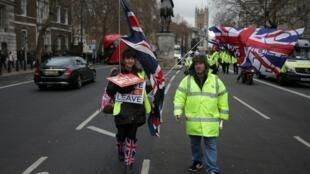 Des «gilets jaunes» à Londres.
