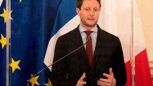 法國歐洲事務國務秘書克萊芒·博納資料圖片