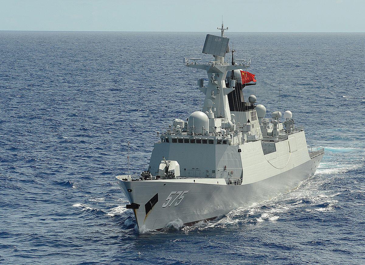 Một hộ tống hạm loại 054A thuộc lớp Giang Khải II (Jiangkai II) của quân đội Trung Quốc trong đợt tập trận RIMPAC năm 2014.