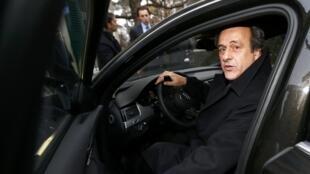 Michel Platini, após o iterrogatório no Tribunal Arbitral de Desporto, 8 Dezembro de 2015.