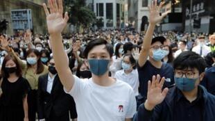 Một cuộc biểu tình tại khu vực Central, đặc khu hành chính Hồng Kông ngày 15/11/2019.