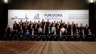 شرکت کنندگان در نشست گروه بیست در ژاپن